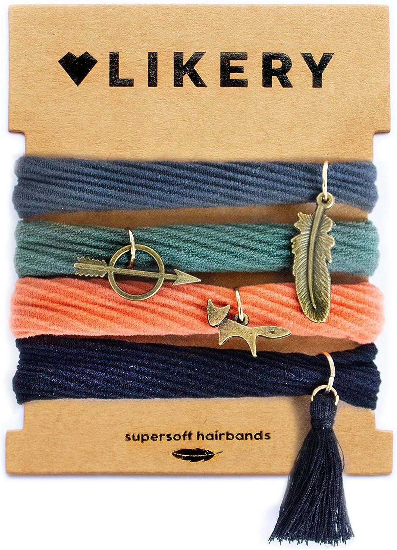 Lazos de pelo súper suaves Pulseras | Regalo ideal | Regalos para mujeres niños niñas | Colgante para el pelo | Color: Gris, Verde, Naranja, Negro (Robin Hood)