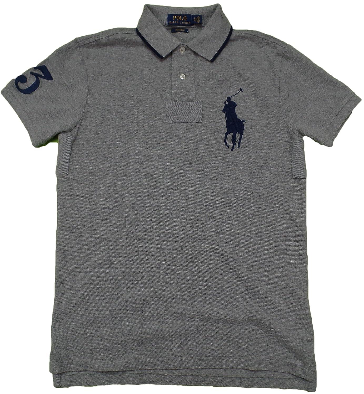 Polo Ralph Lauren Mens Custom Fit Mesh Big Pony Polo Shirt At Amazon