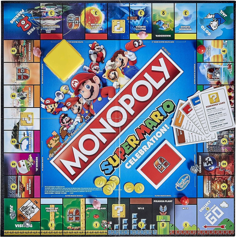 E9517 for sale online Hasbro Monopoly Super Mario Celebration Edition Board Game