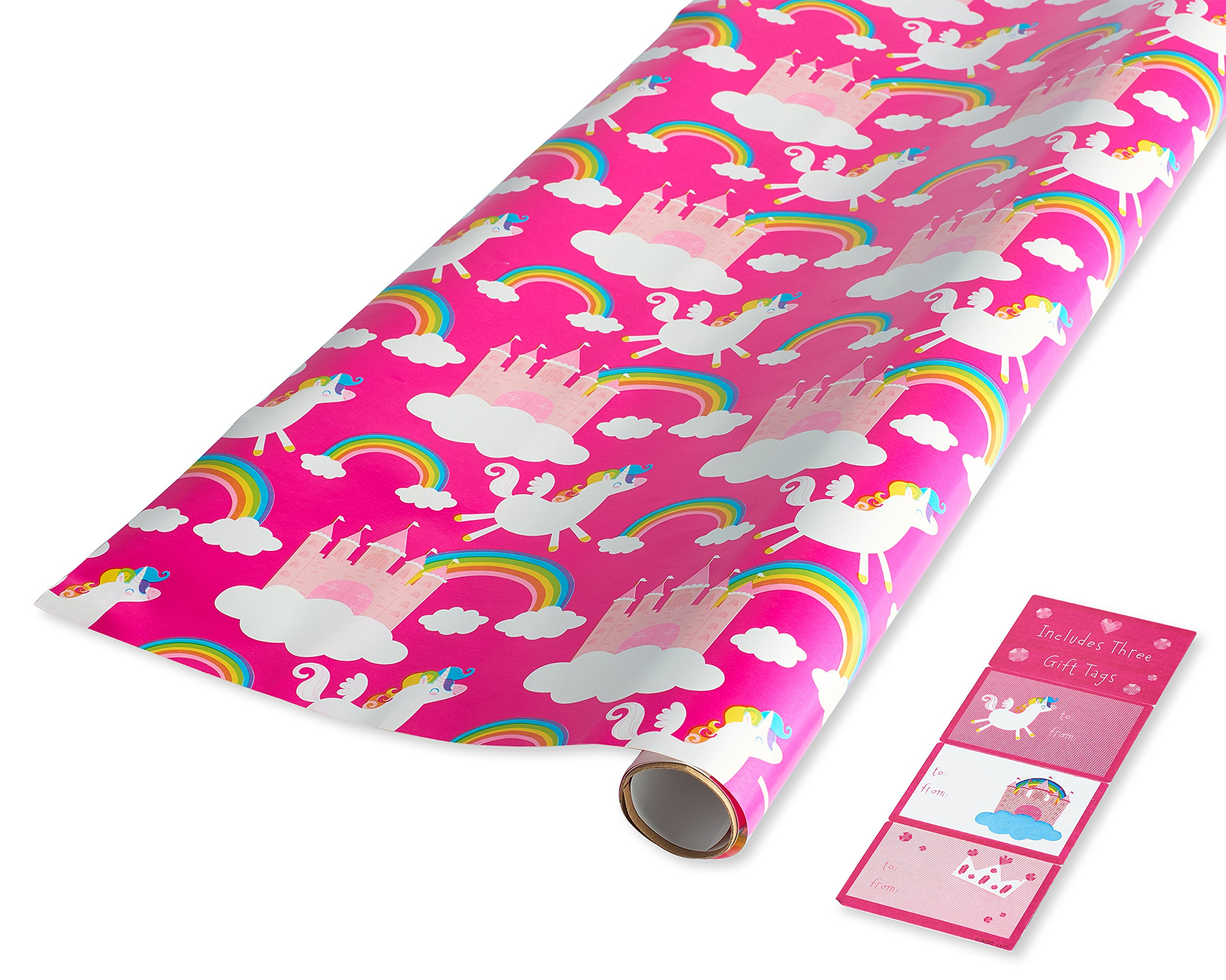 Amazon Majestic Unicorn Pink Purple Blue Premium Gift Wrap
