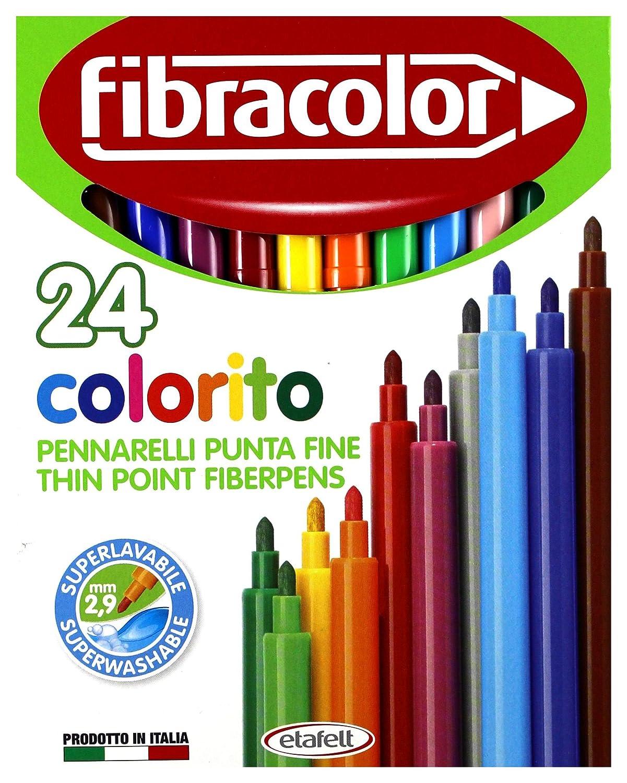 PENNARELLI COLORITO 24 COL. ETAFELT Fibra Color