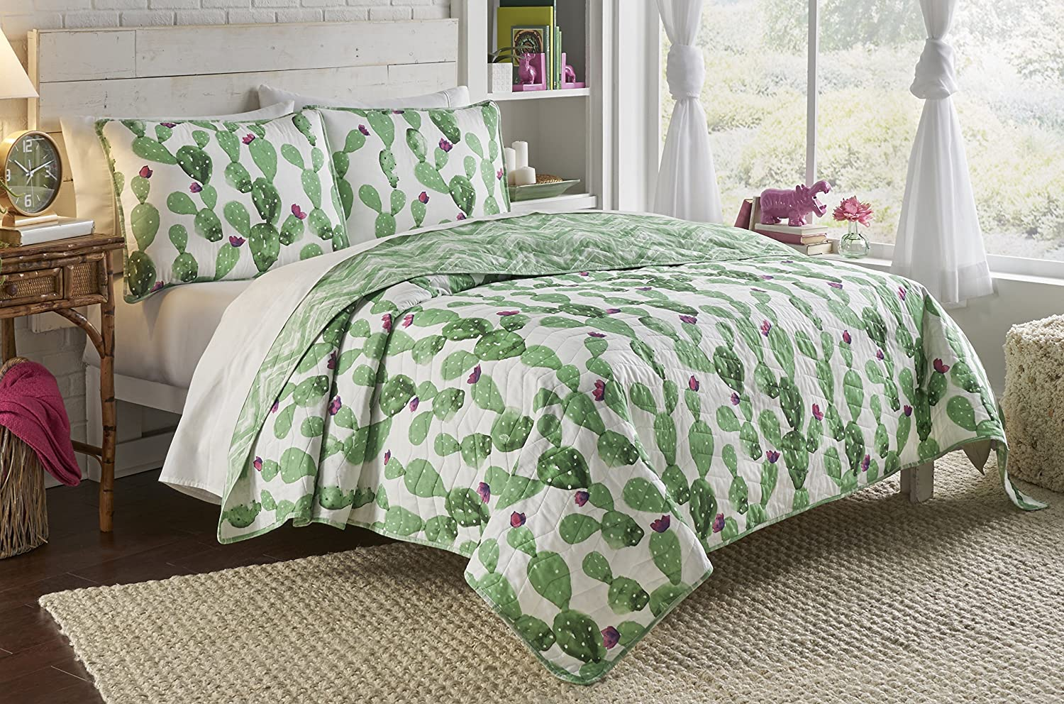 Vue 2 Piece Otto Collection Reversible Quilt Set, Twin/Twin XL