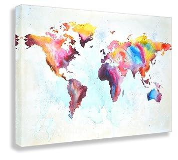 Kunstbruder Weltkarte by Paul London auf Leinwand ...