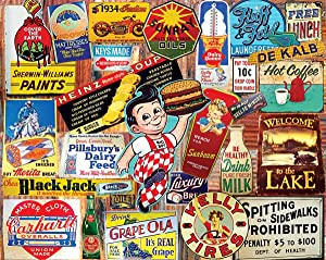 White Mountain Puzzles Vintage Signs - 1000 Piece Jigsaw Puzzle
