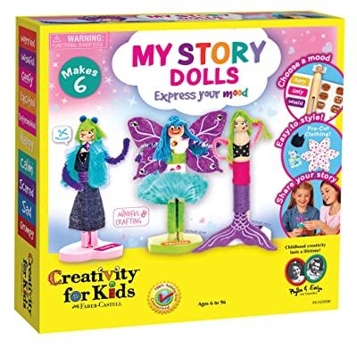 Creativity for Kids My Story Dolls - Create 6 Wooden Clothespin Dolls: Toys & Games
