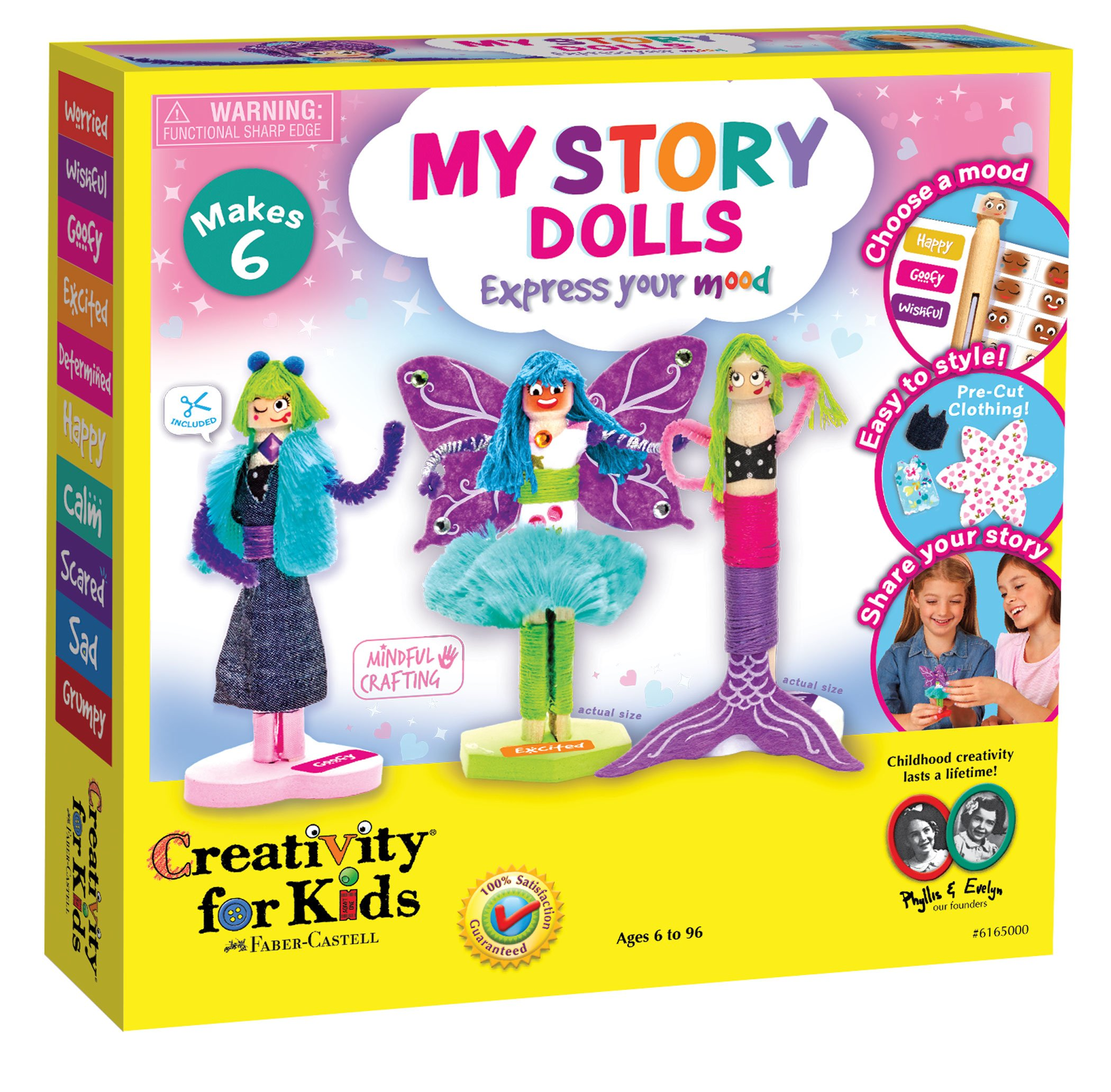 Creativity for Kids My Story Dolls - Create 6 Wooden Clothespin Dolls