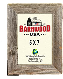 barnwoodusa rustic 5 by 7 inch picture frame with 125 inch wide molding 100