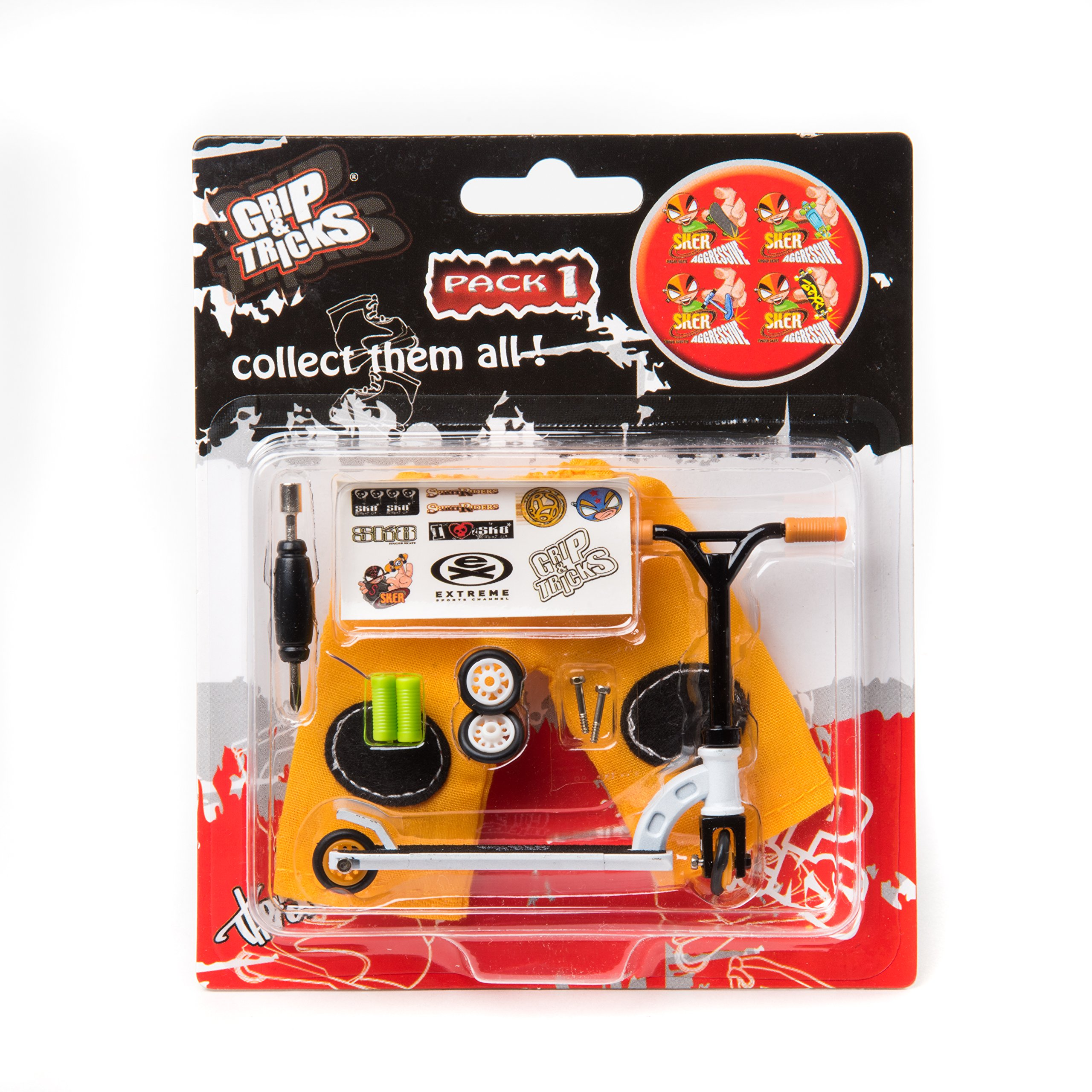 LOT of 4 Scooters - Grip and Tricks - Great Deal 4 Pack of Finger Scooters - Skate - Pack1 by Grip&Tricks (Image #3)
