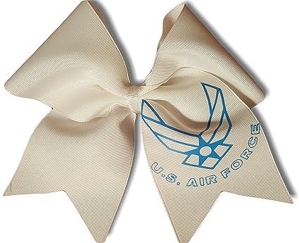 Amazon Cheer Bows White Us Air Force Hair Bow