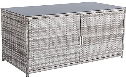 Primaster Auflagenbox Portofino 175 x 87 x 83 cm Gartenbox Gartentruhe Kissenbox