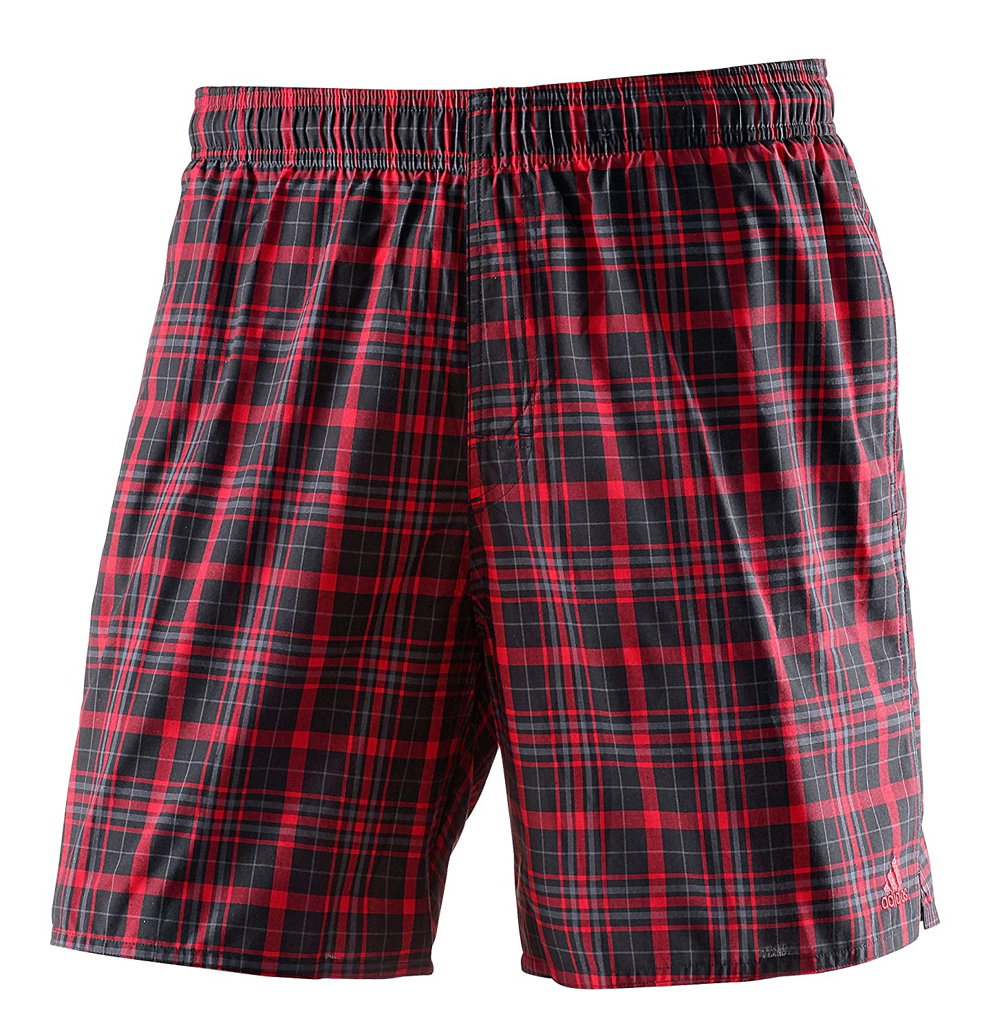 adidas Men's Yarn Dye Check Sporty Length Bathing Shorts