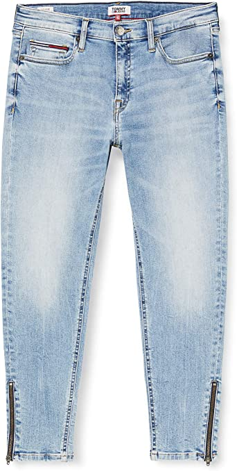 Tommy Jeans Mujer Nora Mr Skinny Ankle Zip Rnl Straight Jeans Azul Reina Lt Bl Str 1aj W28 L30 Amazon Es Ropa Y Accesorios