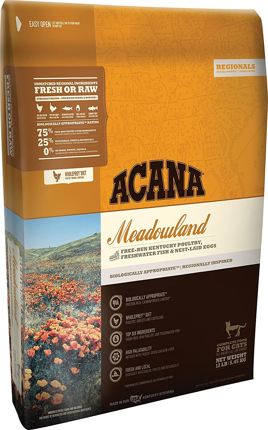 Acana Regionals Meadowland for Cats, 12lbs
