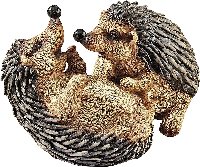 Design Toscano QL56784 Hyper Hedgehogs Garden Statue Full Color Realistic