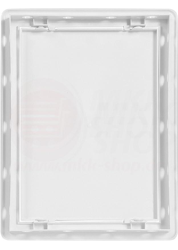 MKK Revisionsklappe Wartungst/ür 300 x 300 mm ASA Kunststoff Inspektionst/ür Revisionst/ür Fliesent/ür in vielen Gr/ö/ßen Trockenbau T/ür Revision Wartung Inspektionsklappe Wartungsklappe