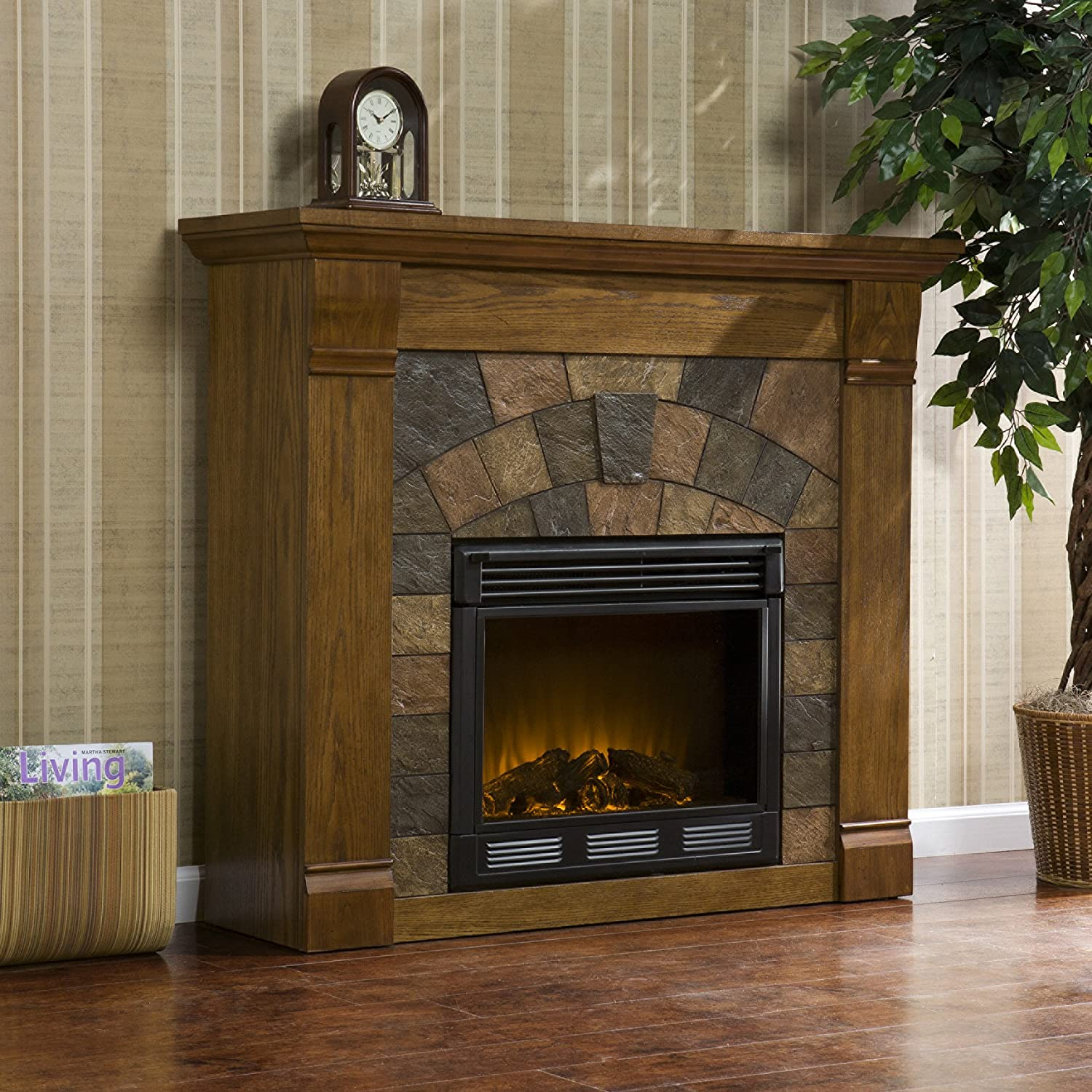 amazon com elkmont electric fireplace home u0026 kitchen