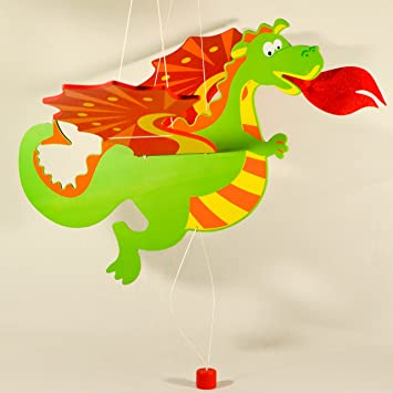 Amazoncom Wooden Hanging Mobile Dragon Nursery Decor Baby