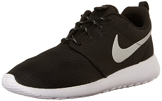 official photos 843ed 4748b Nike Womens Roshe One Running Shoe Black/Metallic Platinum/White (8.5)