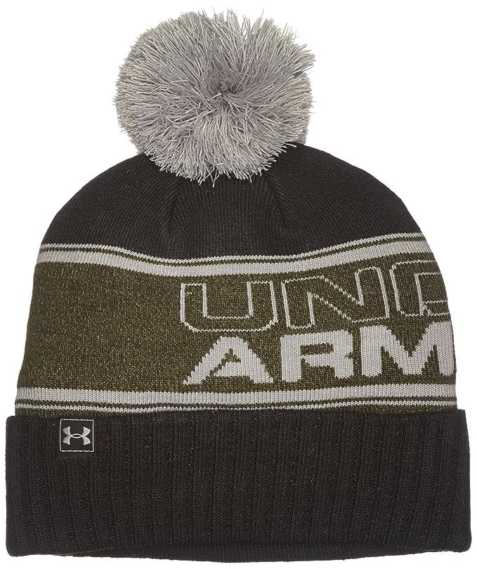 10e79515dd8 Under Armour Men s UA Pom Beanie - Artillery Green