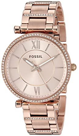 d4c7f9d71a2 Image Unavailable. Image not available for. Colour  Fossil Analog Rose Gold  Dial Women s Watch ...