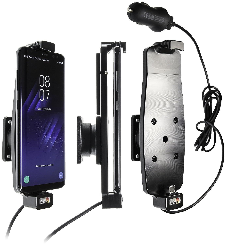 Support voiture avec adaptateur allume-cigare et cable USB pour Samsung Galaxy S8/S9 sans é tui Brodit 521964