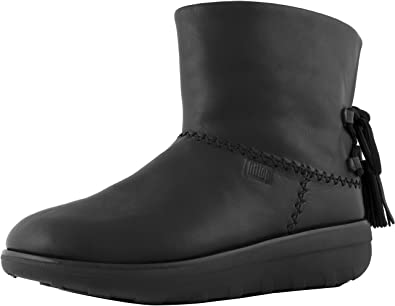 31c484d03576c FitFlop Women s Mukluk Shorty II Boots w Tassels All Black 5 ...