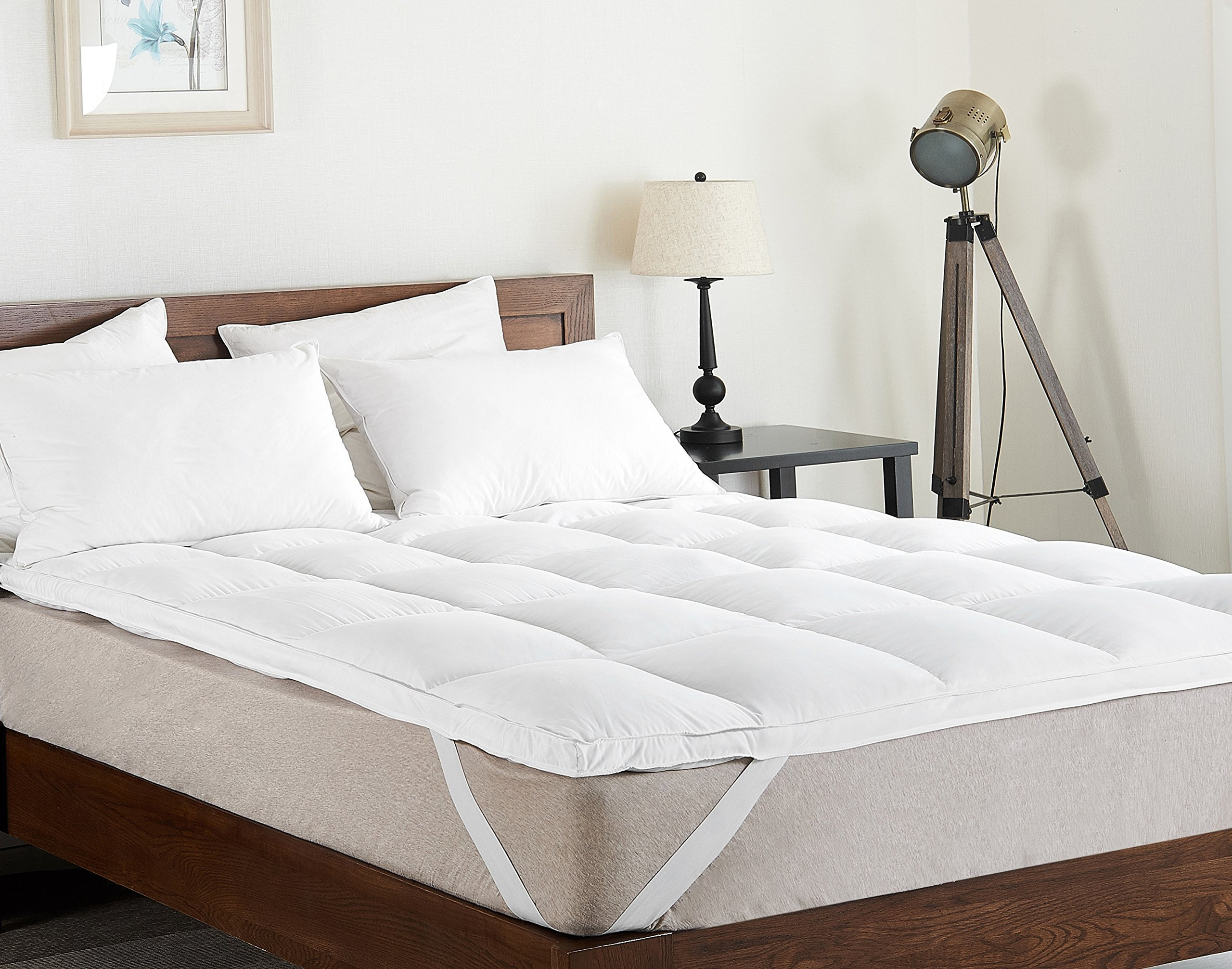 Cheer Collection Extra Plush Luxurious Down Alternative Feather Bed Mattress Topper, Twin