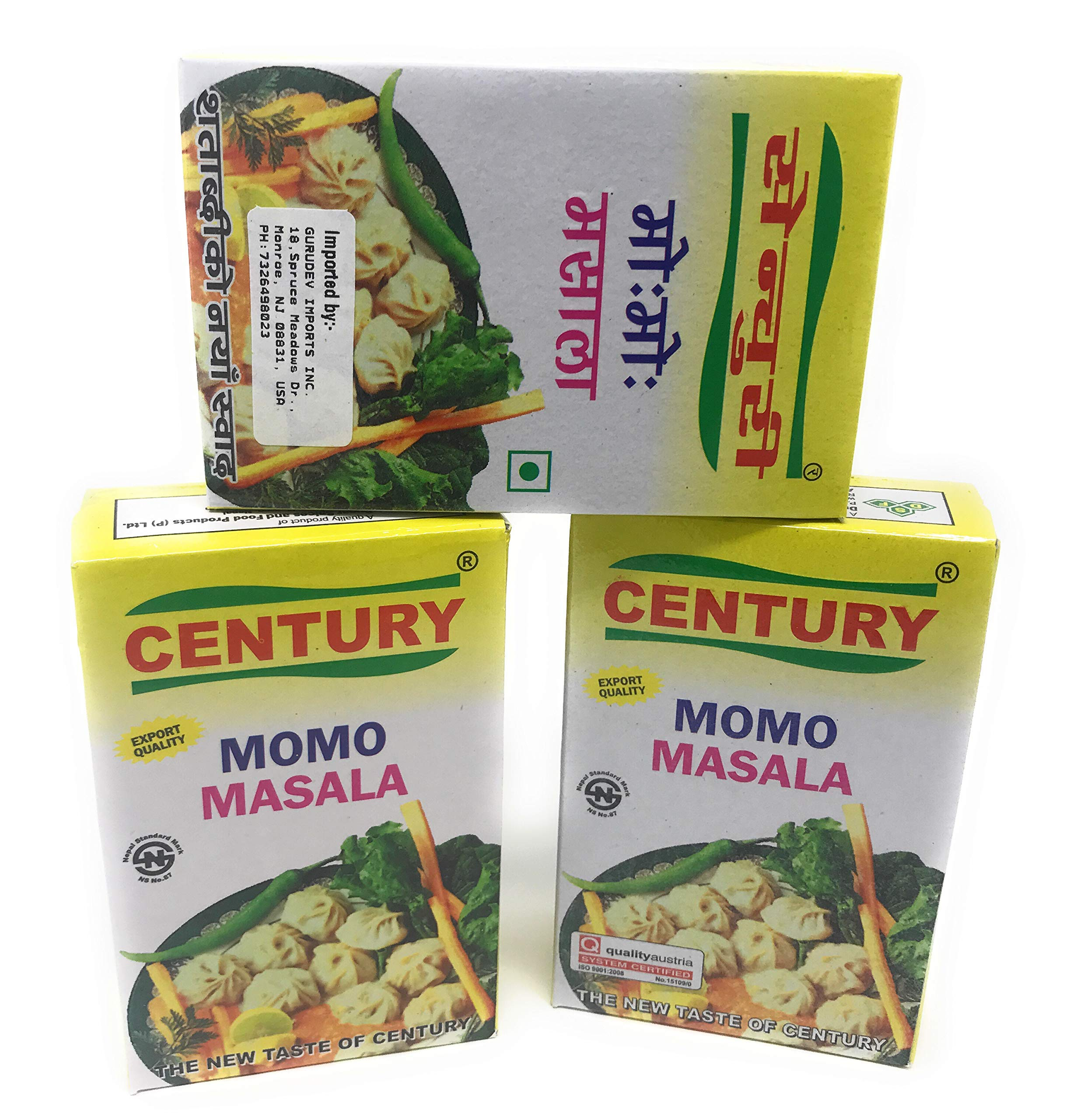 Century MOMO Masala Made in Nepal Pack of 3 Pcs Chinese Dumpling Spices 150 gm Net