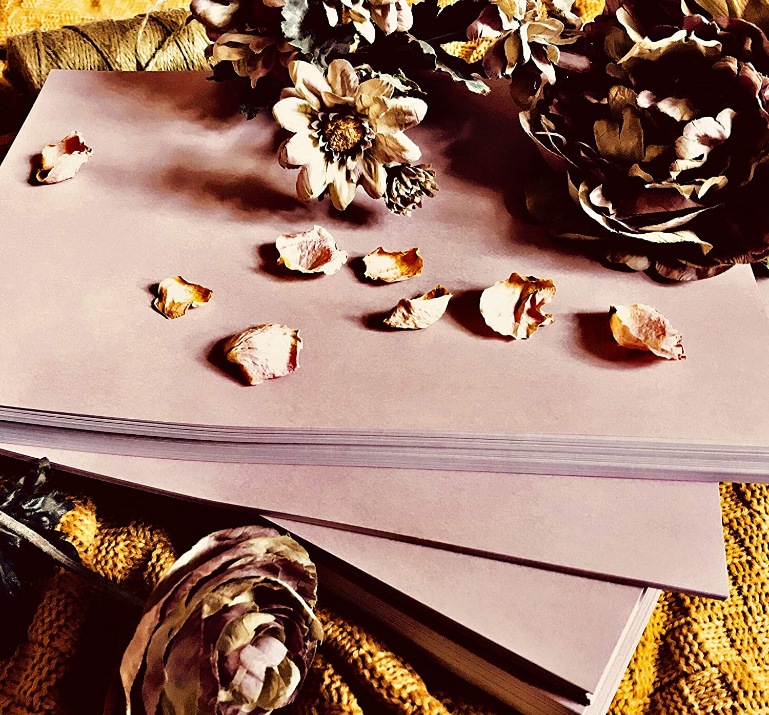 120gsm Pack of 100 Sheets Mauve Dusty Rose Colored Paper Subtle Old Stain Grunge Effect for Craft Certificates Letterhead Invoices A4-11.69x8.27 inches // 29.7x21 cm