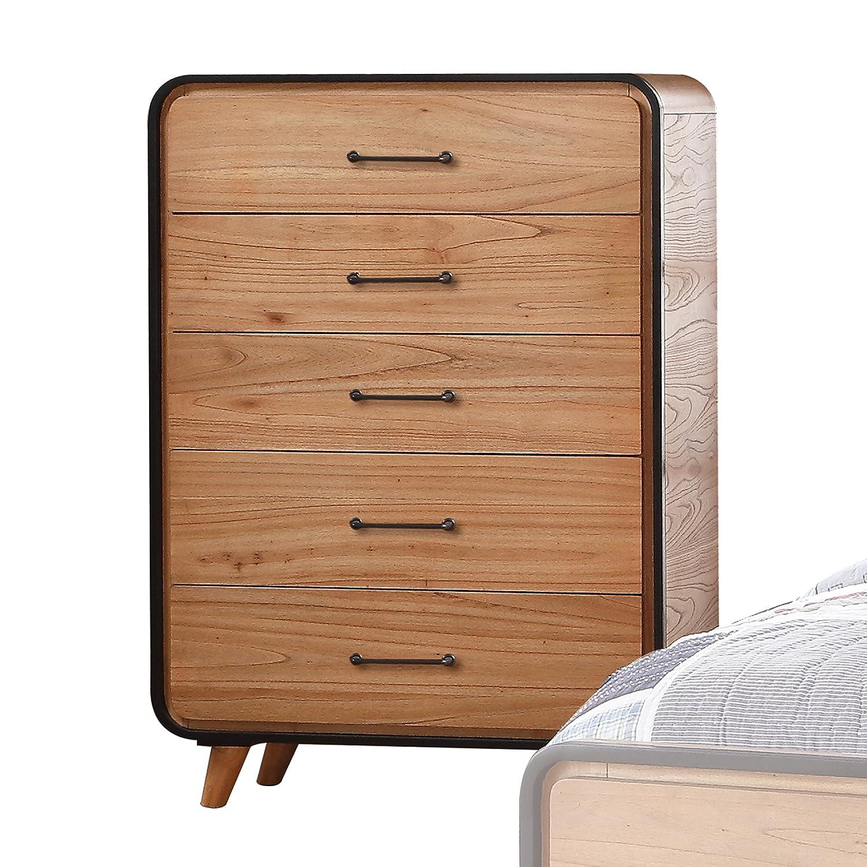 Acme Furniture 30760T Carla Twin Bed, Oak and Black