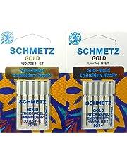 Schmetz Aguja Surtido Oro Titanium Embroi Embroidery Stick Agujas St. 75/11 y St