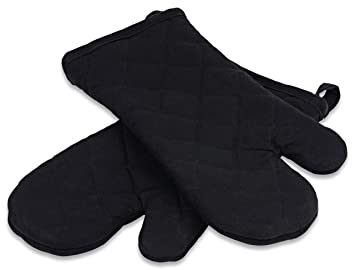 Amazon.com: Premium Kitchen Oven Mitts by Saybrook, 100% Quilted ...