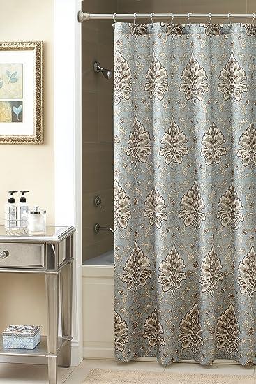 Amazon.com: Chapel Hill by Croscill Marietta Shower Curtain, Multi ...