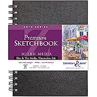 """Stillman & Birn Zeta Series Wirebound Sketchbook, 6"""" x 8"""", 270 GSM (Extra Heavyweight), White Paper, Smooth Surface"""