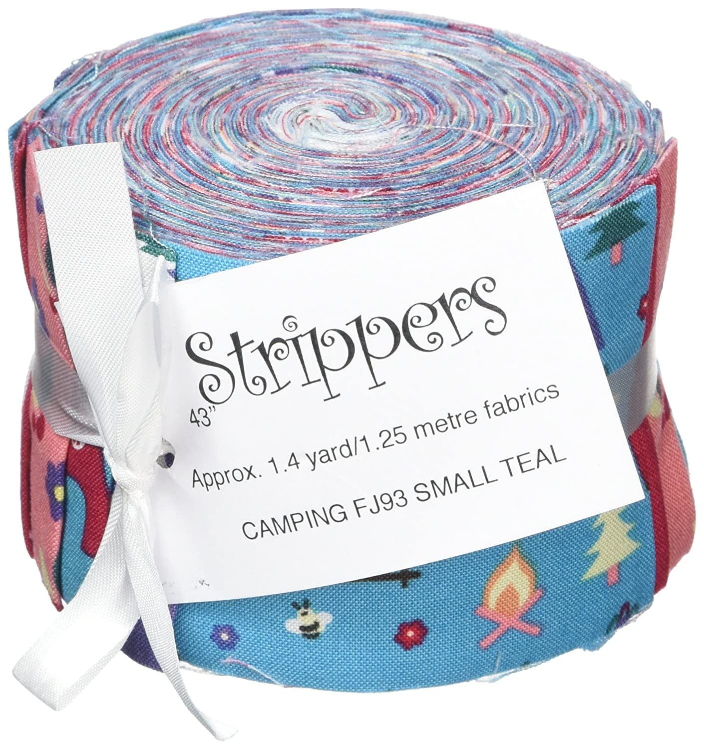 Fabric Freedom Camping Teal Jelly Baby Roll, 100% Cotton, Multicoloured, 9 x 9 x 7 cm FJ93M TEAL