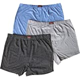 Men's Large Sizes Soft Button Fly Jersey Comfort Fit Boxer Shorts (3 Pair Multi Pack)