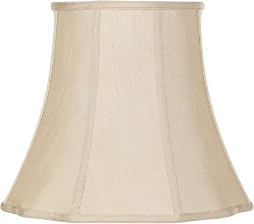 Imperial Taupe Bell Lamp Shade 10x16x14 Spider – Imperial Shade