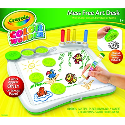 Crayola Color Wonder Art Desk with Stamper: Toys & Games
