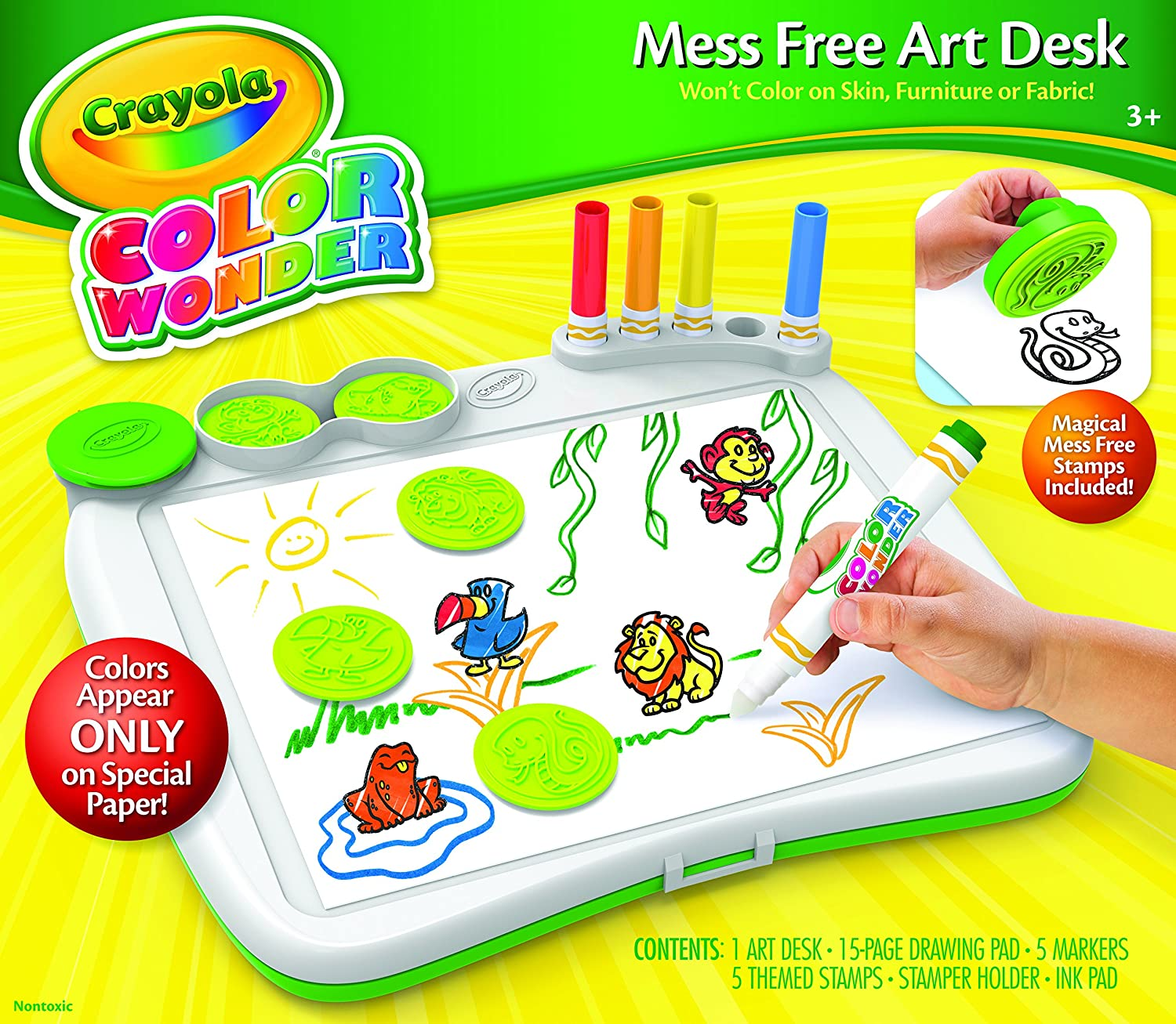 Amazon.com: Crayola Color Wonder Art Desk with Stamper: Toys & Games