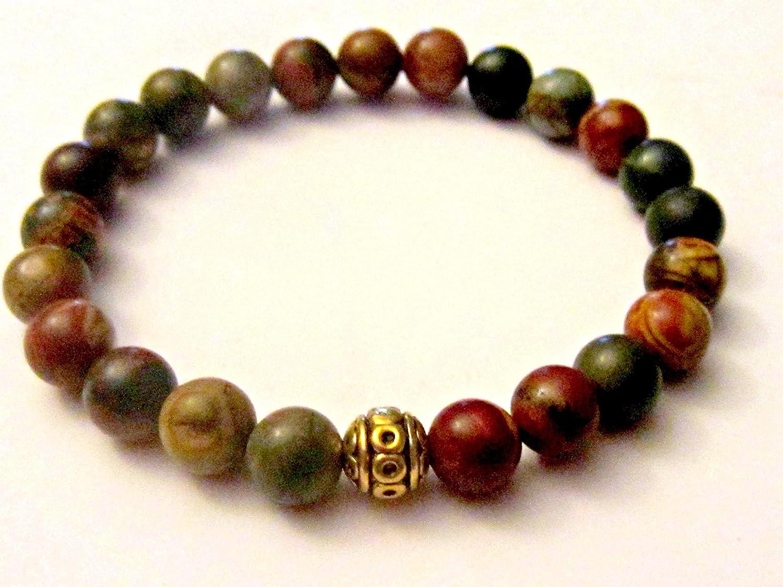 Amazon.com: Jasper Yoga Bracelet. Meditation Beads ...