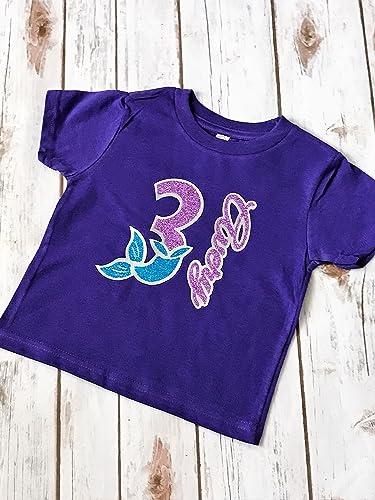 Amazon Mermaid Birthday Outfit Shirt Toddler