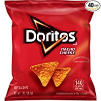 Deals on 40-Pack Doritos Nacho Cheese Flavored Tortilla Chips 1oz