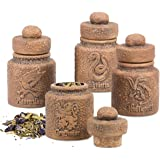 Harry Potter Ceramic Spice Jars with Hogwarts Houses, set of 4 - Store Potion Ingredients, Herbs, Spices and More - with…