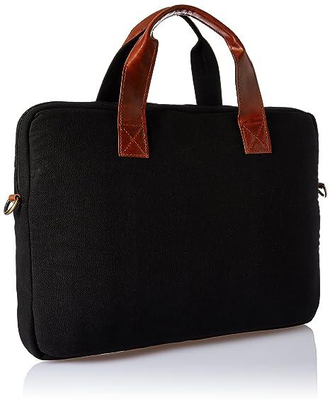74f515ae67e2 Ruosh Canvas 38 cms Black Messenger Bag (mes-bag-5519)  Amazon.in  Bags