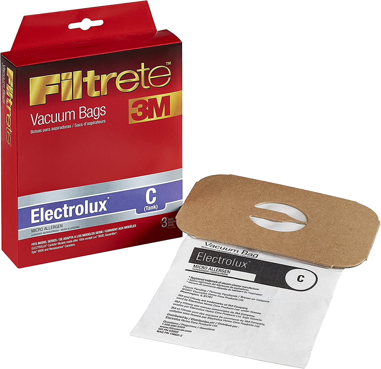 3M Filtrete Electrolux C (Tank) Micro Allergen Vacuum Bag - 3 bags (67706)