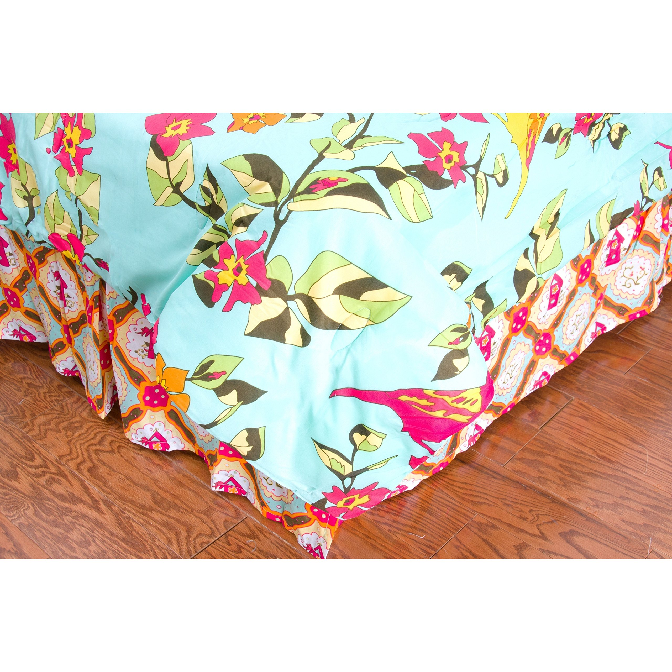 Rizzy Home Birds in Paradise Kids Bed Skirt, Twin
