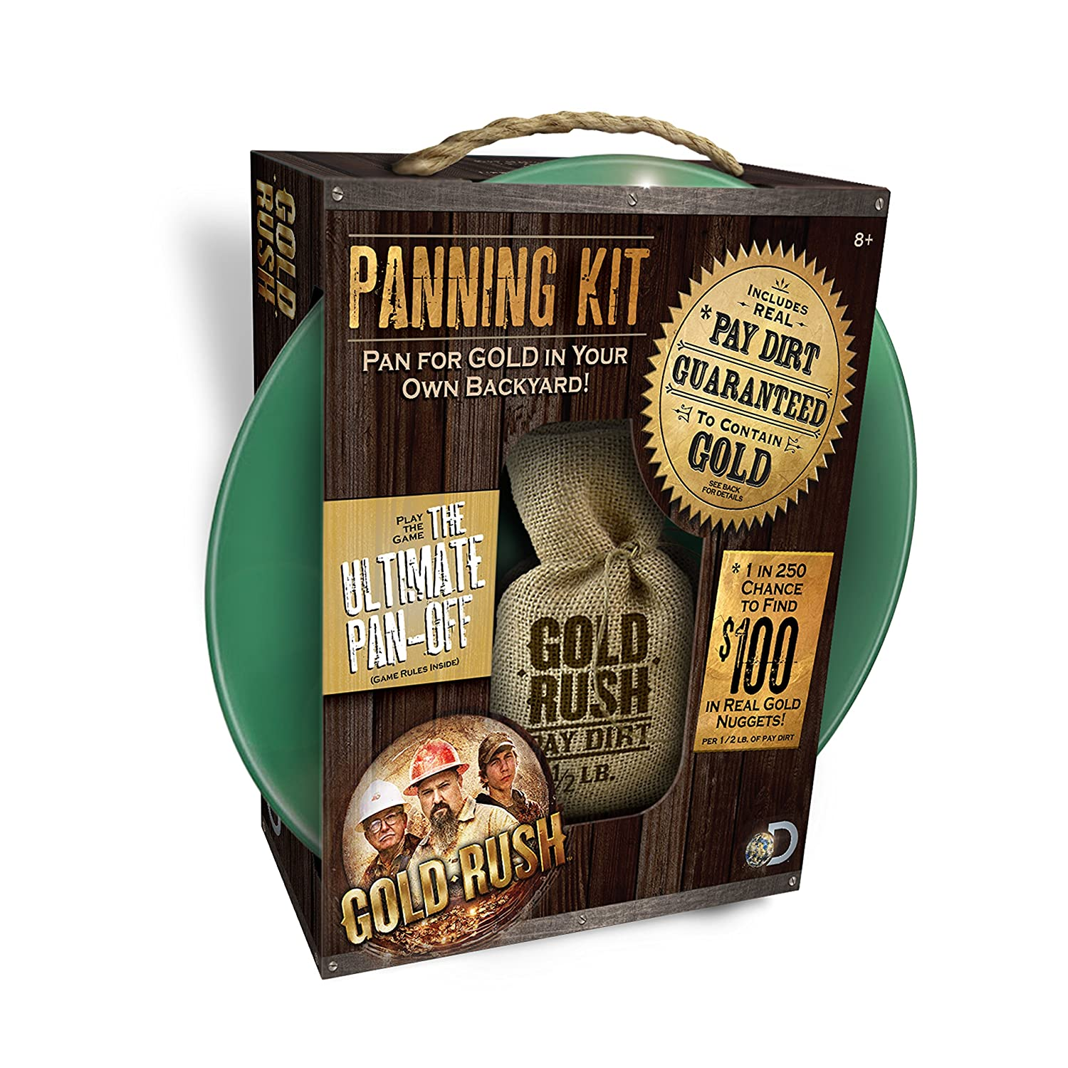 amazon com gold rush panning kit 1 2 pound of paydirt included
