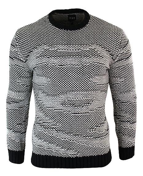 25acc1b86f3 ikao Pull Laine Tricot Look Italien habillé décontracté Coupe ajustée Homme   Amazon.fr  Vêtements et accessoires