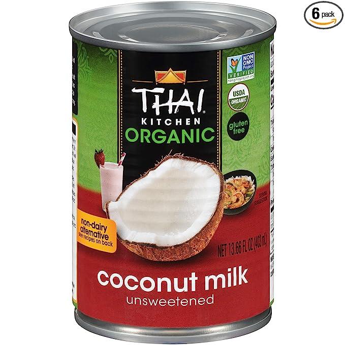 Thai Kitchen Organic Unsweetened Coconut Milk, 13.66 Fl Oz (Pack of 6): Amazon.com: Grocery & Gourmet Food