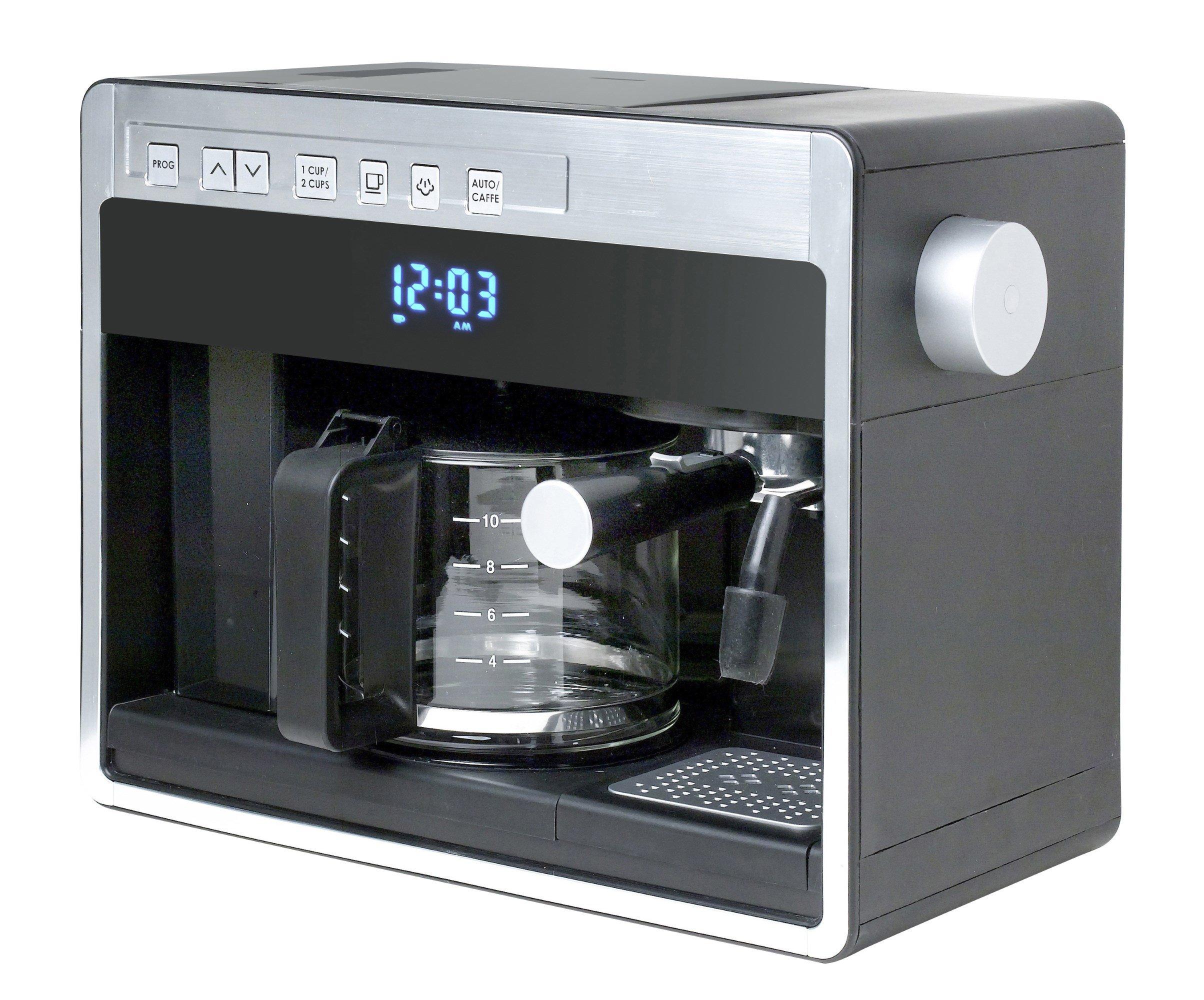Espressione-DeLonghi of Italy 26161 New 3-in-1 Combination Coffee Beverage System, Black Silver